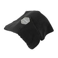 🔝 Дорожная ортопедическая подушка для путешествий Travel Pillow - Чёрная, подушка-воротник, доставка по Украине | 🎁%🚚