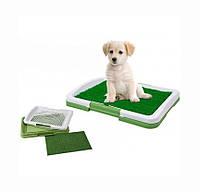 🔝 Лоток для собак с травой Puppy Potty Trainer Pad зелёный туалет для собак  , Зоотовары