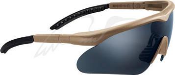 Очки баллистические Swiss Eye Raptor. Цвет - песочный, 3 сменные линзы (прозрачный/затемненный/ора