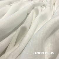 Белая льняная ткань, 100% лен, цвет 101