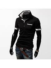 """Рубашка поло """"Stereoman"""",в чёрном и белом цвете."""