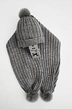 Детская шапка для девочки Одежда для девочек 0-2 Artigli Италия A03289