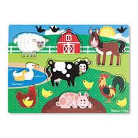 """Рамка-вкладыш """"Животные фермы"""", 8 эл. ,  Melissa&Doug, фото 1"""