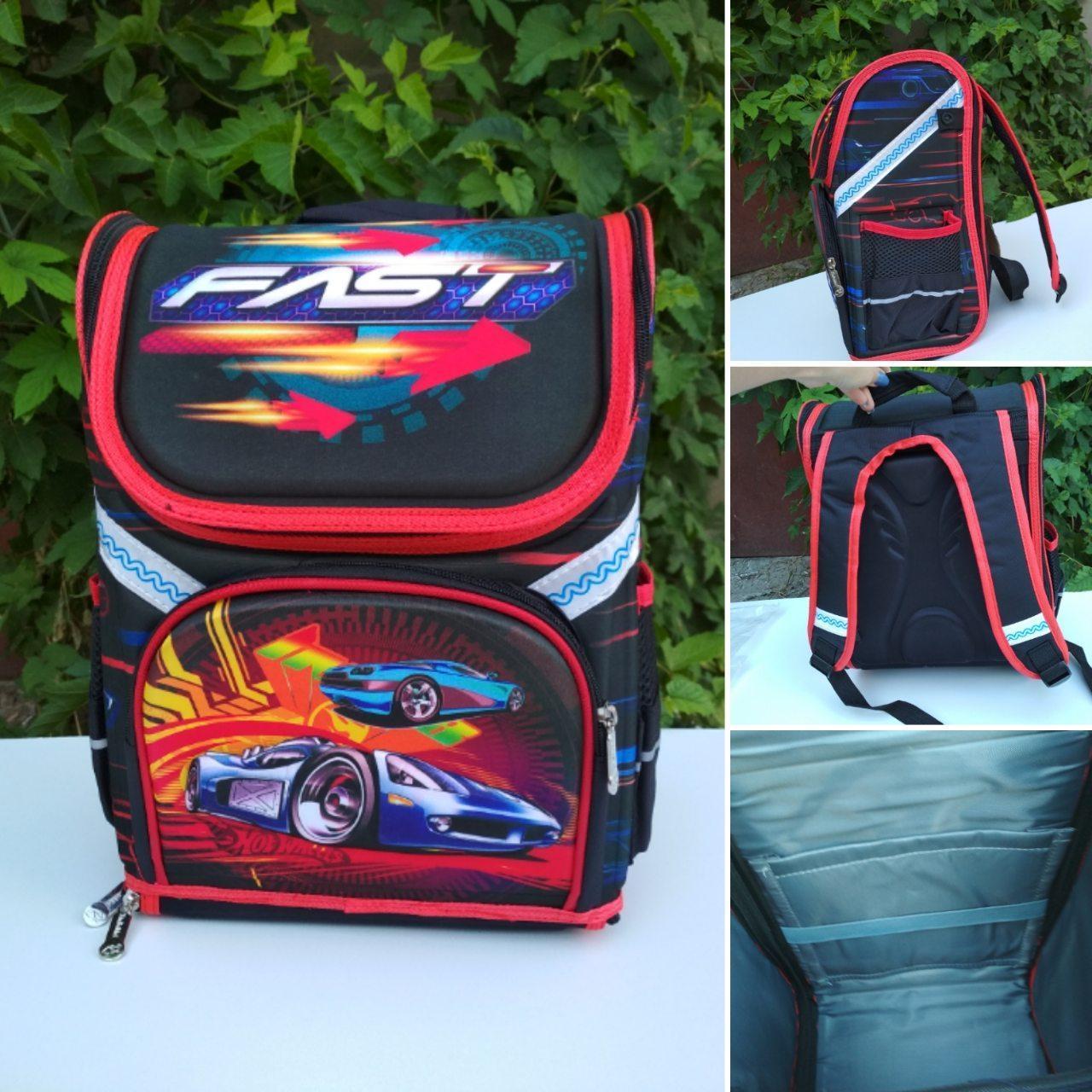 Школьный ортопедический рюкзак с гоночным авто 35*26*20 см