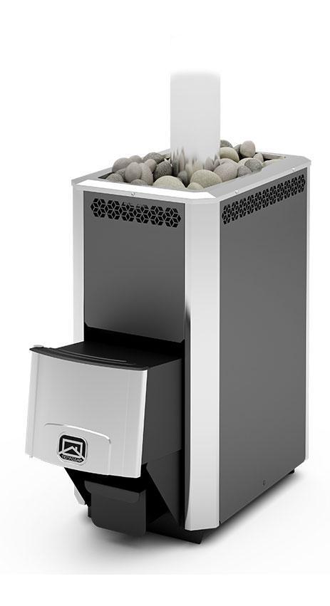 Дровяная печь-каменка Теплодар Сахара 16 ЛК объем парилки 9-16 м.куб, вес камней 60 кг, нагрев воды
