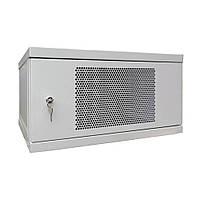 Телекоммуникационный шкаф настенный СН-6U-06-04-ДП-1-7035