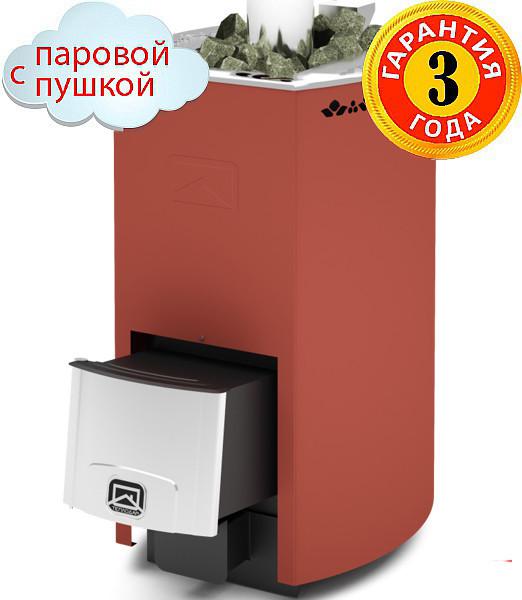 Дровяная печь-каменка Теплодар Кубань 20 Л с паровой пушкой, объем парилки 10-20 м.куб, нагрев воды