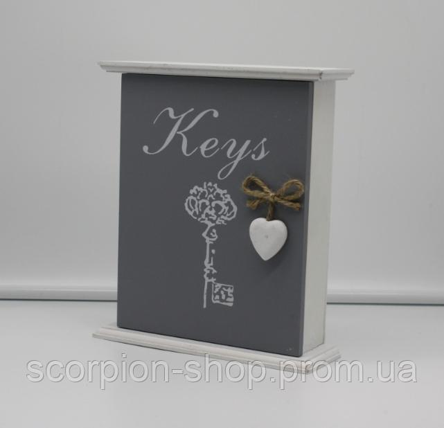 """Ключница """"Keys"""" (24*18*5 см) 6 крючков"""