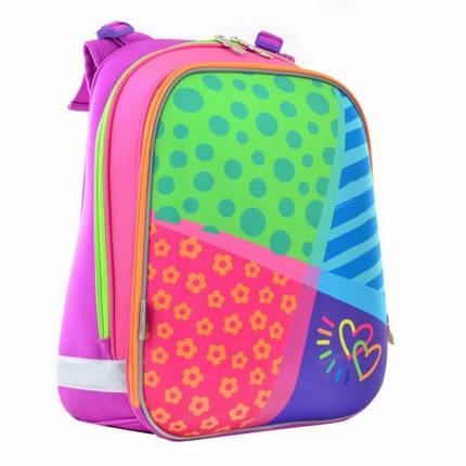 Разноцветный каркасный ранец 1 вересня для девочки38*29*15, фото 2