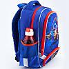 Школьный синий ортопедический рюкзак для мальчика Kite Motocross38*29*13, фото 5