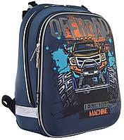 Рюкзак шкільний каркасний 1 Вересня H-12 Off-road Чорний (555938)