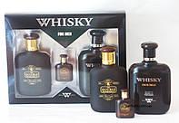 Чоловічий набір d. whiski set, 3 предмета (туалетна вода 100 мл, пробник 9 мл, гель для душу 200 мл)