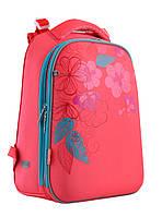 Рюкзак шкільний каркасний 1 Вересня H-12 Blossom Кораловий (556042)
