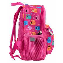 Школьный розовый рюкзак с котятами для девочки 22*18*9 см, фото 2