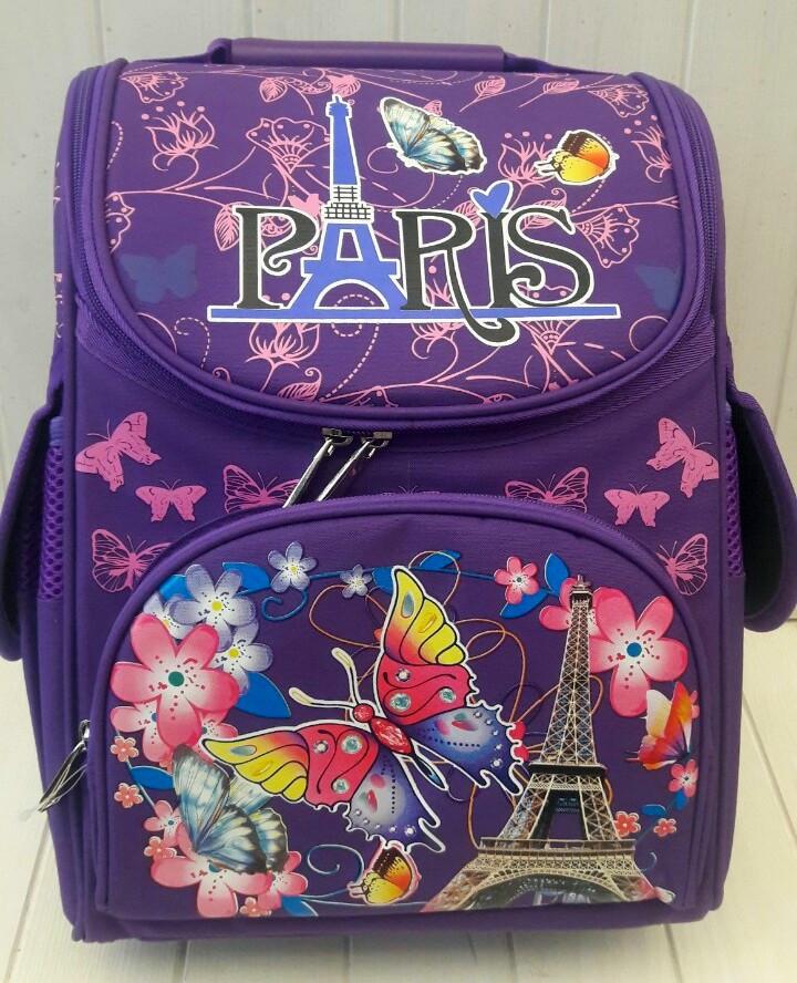 Каркасный школьный ранец Paris для девочки 1-4 класс 33*25*15 см