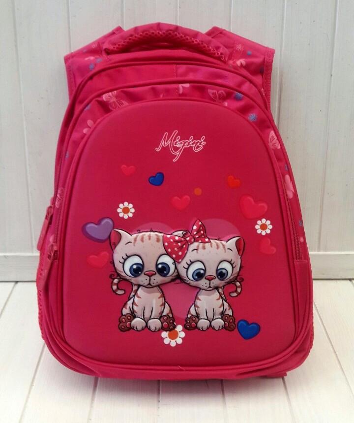Школьный рюкзак Miqini с кошечками для девочки 41*29*18 см
