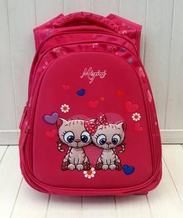 Школьный рюкзак Miqini с кошечками для девочки 41*29*18 см, фото 2