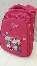 Школьный рюкзак Miqini с кошечками для девочки 41*29*18 см, фото 3