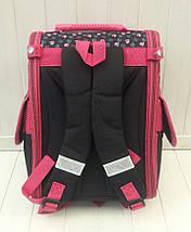 Черный каркасный рюкзак с собачкой для девочки 31*26*15 см, фото 2