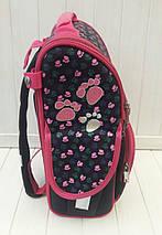 Черный каркасный рюкзак с собачкой для девочки 31*26*15 см, фото 3