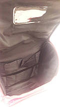 Малиновый школьный каркасный ранец с собачкой для девочки 31*26*15 см, фото 3