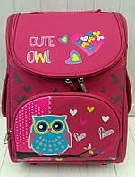 Каркасный ортопедический рюкзак с совой для девочки 32*26*16 см