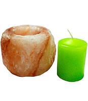 Подсвечник из гималайской соли Цилиндр для бани и сауны