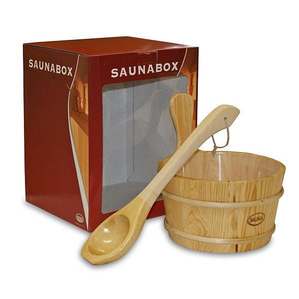 Набор деревянный шайка 4 л и черпак 40 см для бани и сауны