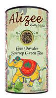 Чай зеленый листовой с саусепом Alizee Gun Powder Soursop Green Tea 150 г в подарочной банке