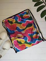 Цветная сумка с затяжкой для сменной обуви 42*33 см, фото 3