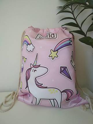 Сумка-мешок для сменки Пони Единорог 42*33 см, фото 2