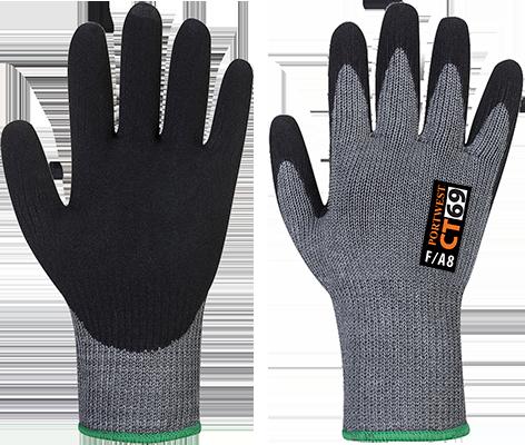 Перчатки Portwest CT69 AHR+ с нитриловой пеной CT69 Серый/Черный, L