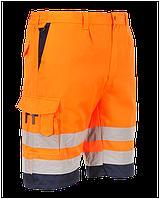 Полихлопковые шорты Portwest E043 Оранжевый/темно-синий, L
