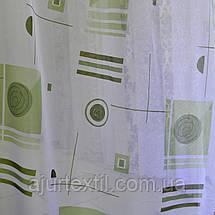 """Тюль """"Абстракція"""" зелень, фото 2"""