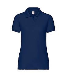 Женская футболка поло темно-синяя 212-32