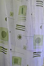 """Тюль """"Абстракція"""" зелень, фото 3"""