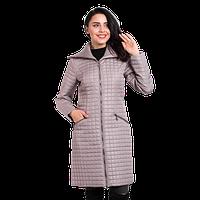 Женская куртка осенняя Finn Flare A-16-11010 длинная бежевая