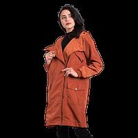 Женская осенняя куртка Finn Flare CA 17-17008 коричневая