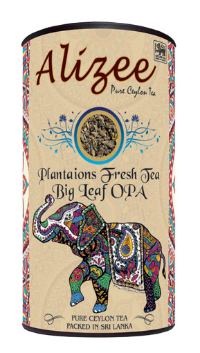Чай черный листовой Alizee Plantaions Fresh Tea Big Leaf OPA 150 г в подарочной банке