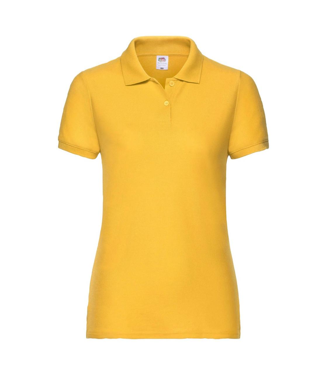 Женская футболка поло желтая 212-34