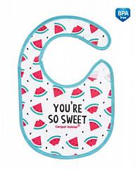 Слюнявчик хлопковый Canpol Babies 15/114_pin So Cool - рожевий