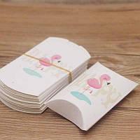 Подарочная упаковка для украшений Фламинго/размер 8х5х2 см.