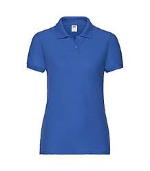 Женская футболка поло синяя 212-51