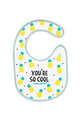 Слюнявчик хлопковый Canpol Babies 15/114_pin So Cool - бирюза