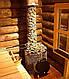 Дровяная печь для бани и сауны IKI SL со стеклянной дверкой и прямым дымоходом, фото 3