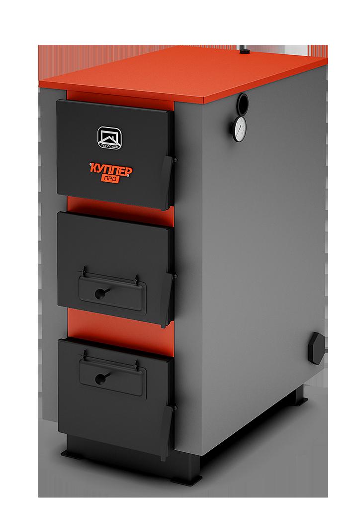 Твердотопливный котел Теплодар Куппер ПРО 36 кВт площадь 180-360 м.кв. механический регулятор тяги