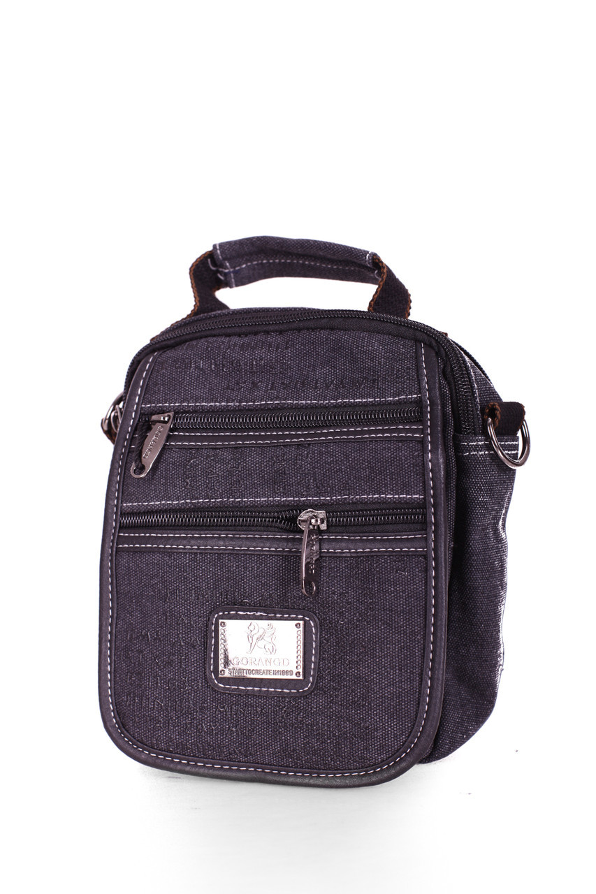 Мужская сумка через плече черная(FB001)