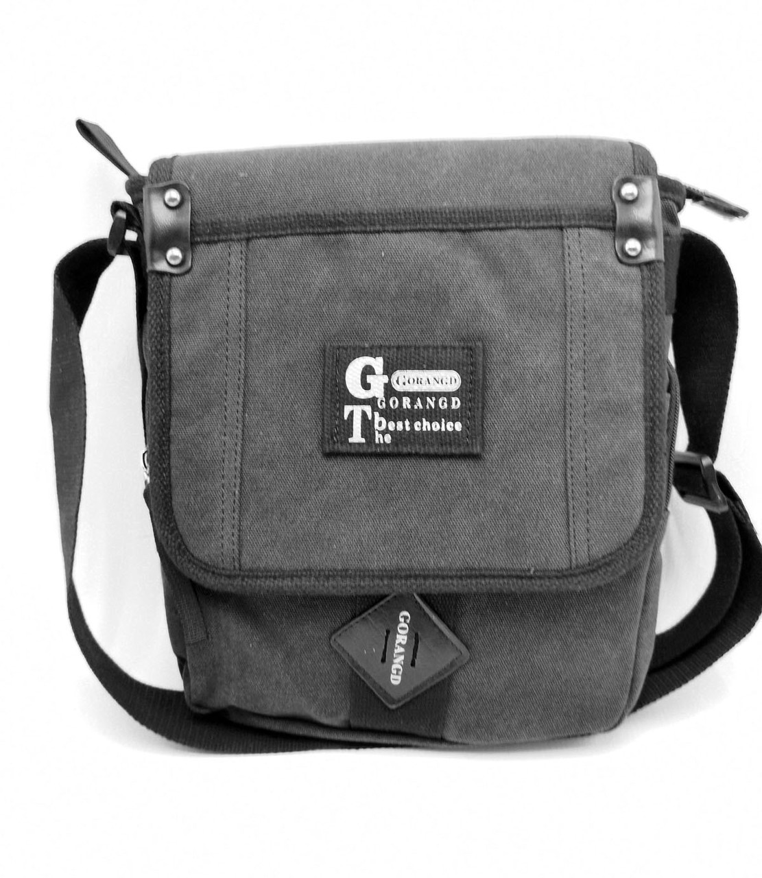 Мужская сумка через плече Gorangd черный (3381/1)