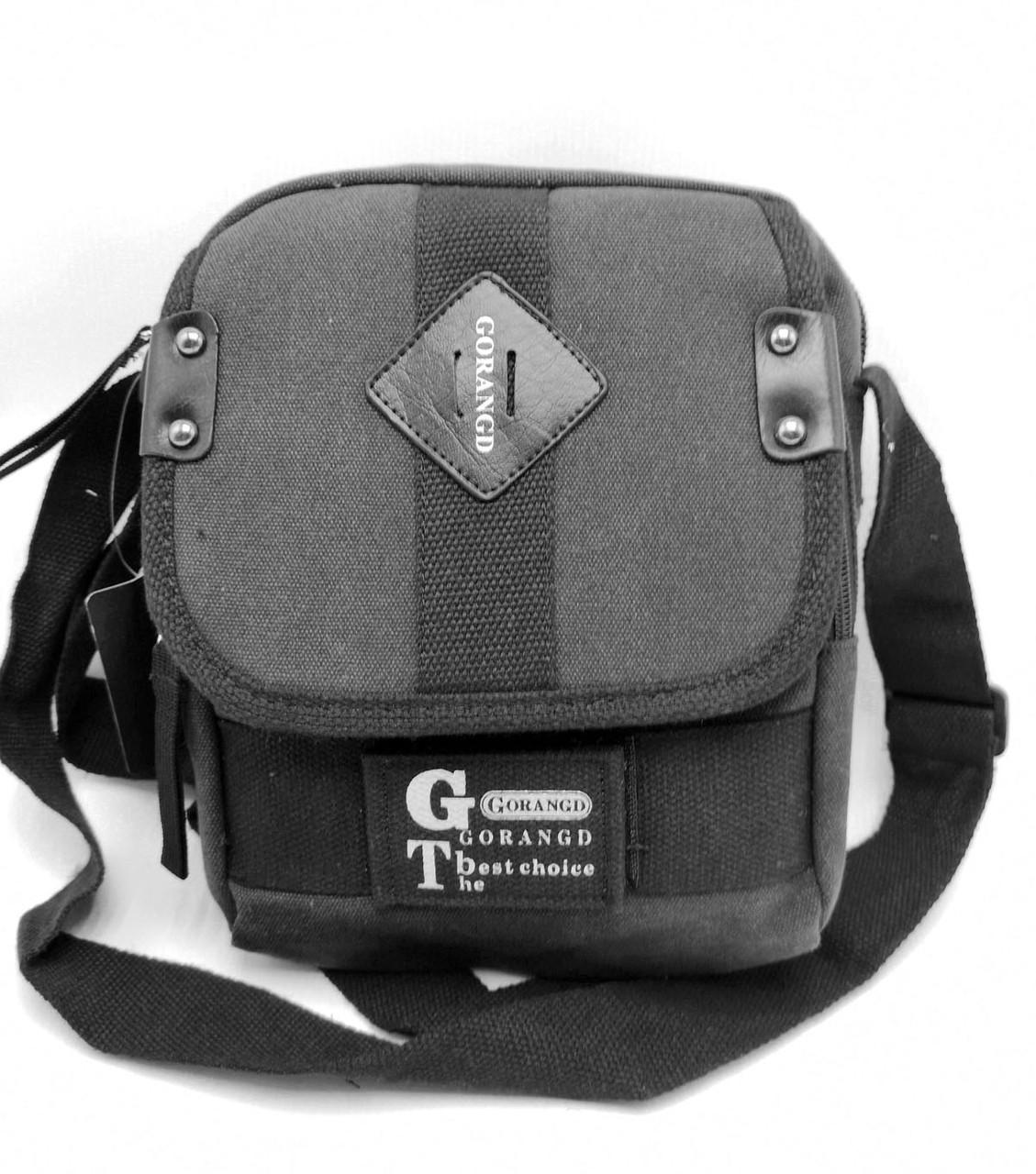 Мужская сумка через плече Gorangd черный (3380/1)