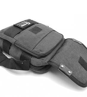 Мужская сумка через плече Gorangd черный (3380/1), фото 2